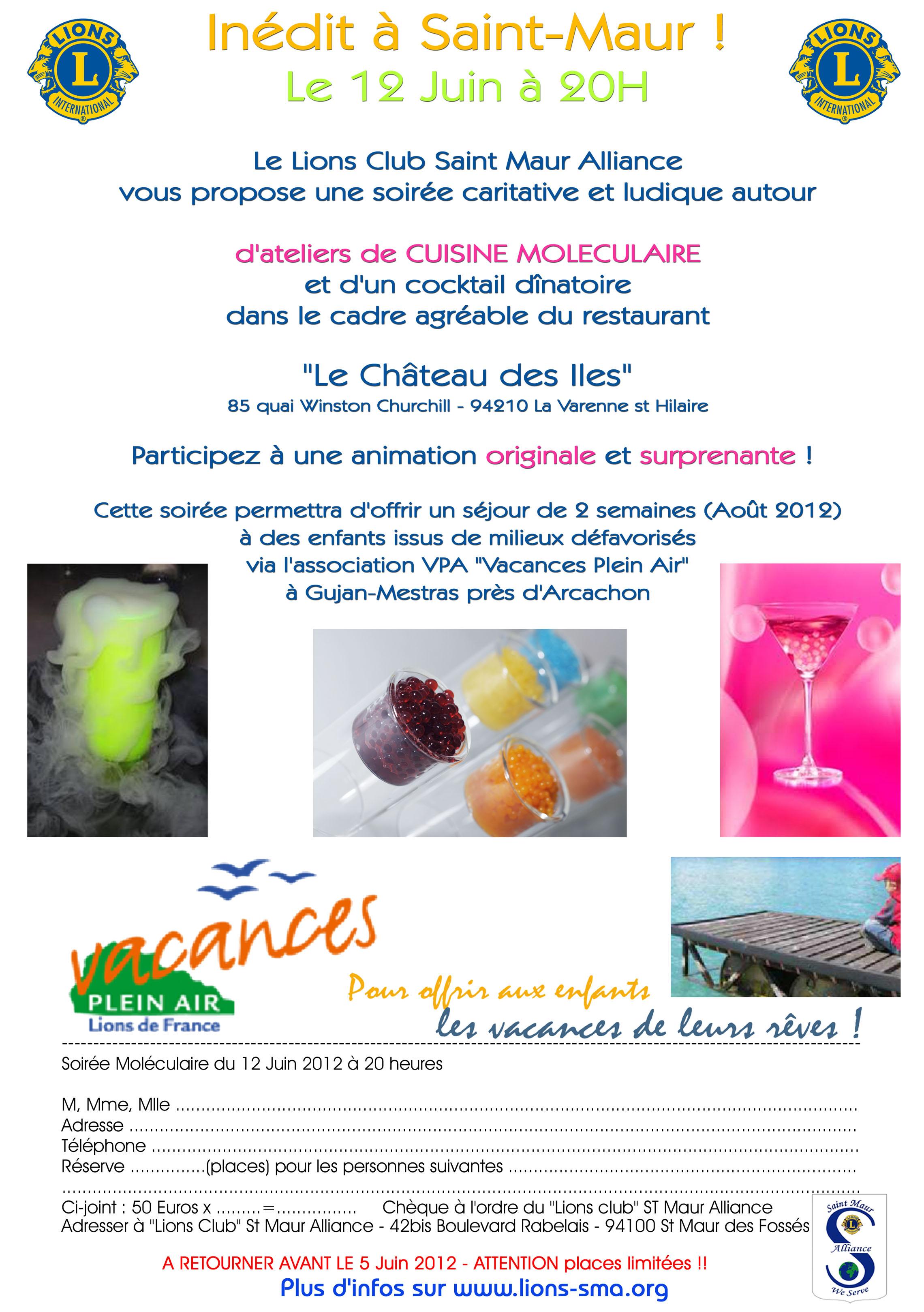 Non class lions club saint maur alliance - Cuisine moleculaire pdf ...